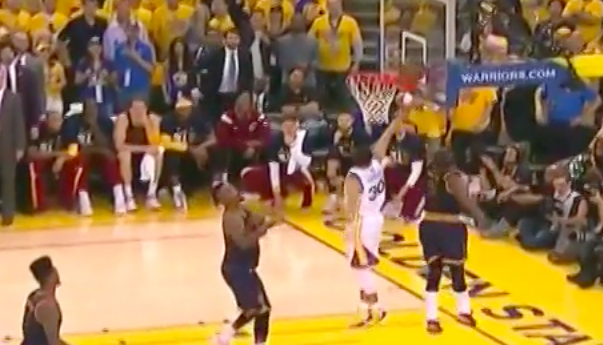 Kyrie Irving's block casts clouds over Game 1 of NBA Finals